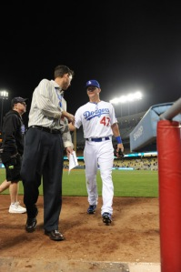 LOS ANGELES DODGERS JERRY SANDS MAJOR LEAGUE DEBUT