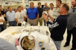 DODGERS VISIT JOHNSON SPACE CENTER