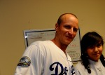 LOS ANGELES DODGERS MARK ELLIS VISITS WHITE MEMORIAL HOSPITAL