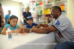 Manny Mota visits White Memorial Hospital