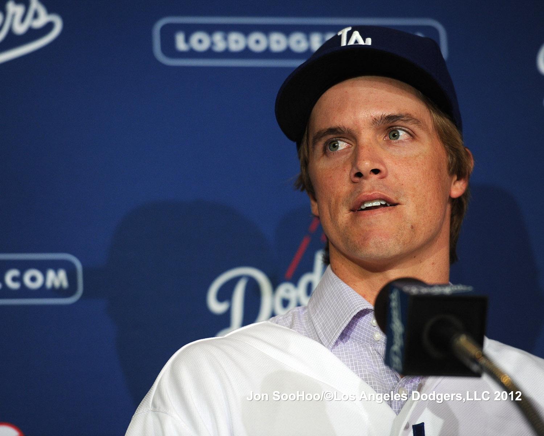 Zack Greinke Dodgers Press Conference 12/11/12-Something Cur...