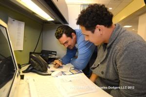 LOS ANGELES DODGERS LUIS CRUZ AND ADRIAN GONZALEZ