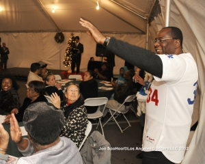 LEE LACY AT COMMUNITY COALITION HOLIDAY PARTY
