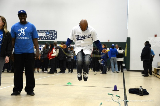 DODGERS COMMUNITY CARAVAN AT LA TIJERA ELEMENTARY SCHOOL IN INGLEWOOD