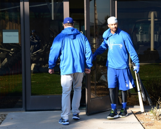 LOS ANGELES DODGERS REPORTING DAY FOR PITCHERS AND CATCHERS