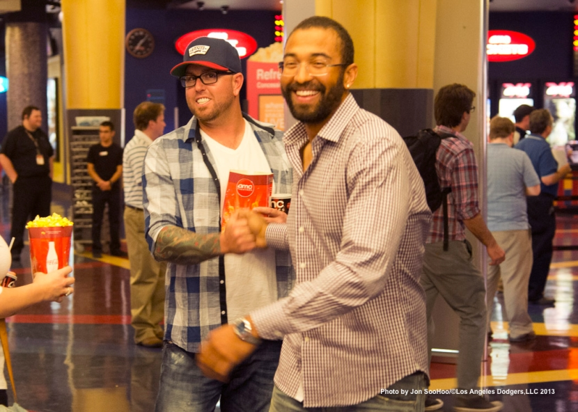 MATT KEMP HOSTS THE PRIVATE SHOWING OF 42-THE JACKIE ROBINSON STORY