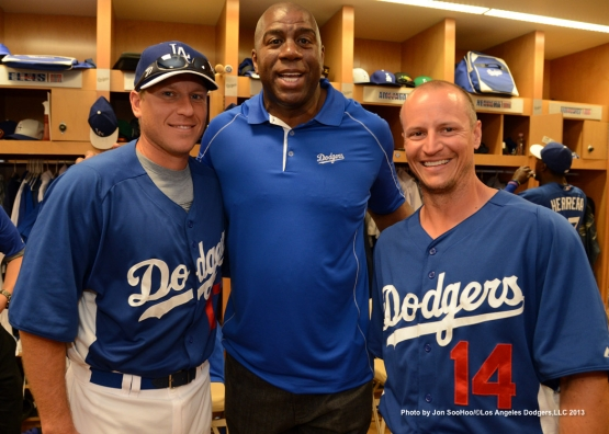 "LOS ANGELES DODGERS EARVIN ""MAGIC"" JOHNSON ADDRESSES THE TEAM"