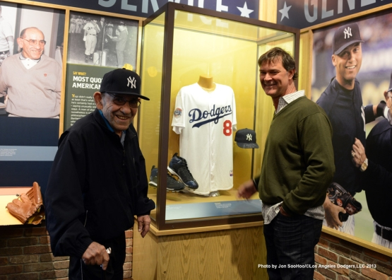 DON MATTINGLY VISITS YOGI BERRA