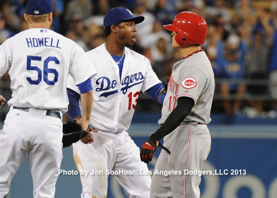 CINCINNATI REDS AT LOS ANGELES DODGERS