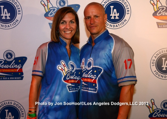 Los Angeles Dodgers Foundation Bowling Extravaganza hosted by A.J. Ellis and Josh Beckett at Lucky Strike Lane L.A. LIVE