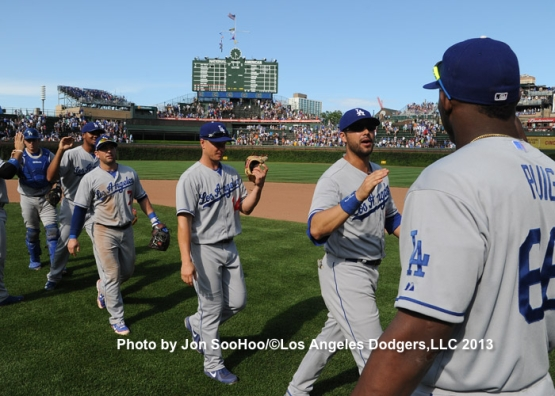 LOS ANGELES DODGERS AT CHICAGO CUBS