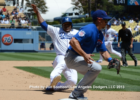 CHICAGO CUBS AT LOS ANGELES DODGERS