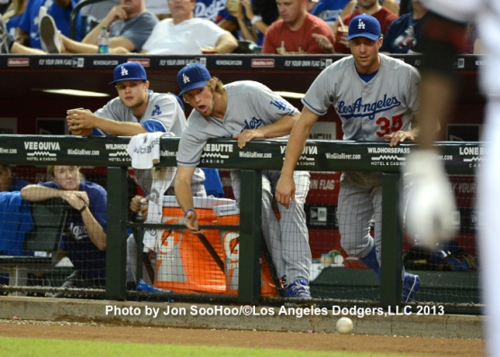 LOS ANGELES DODGERS AT ARIZONA DIAMONDBACKS