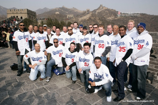 LOS ANGELES DODGERS VISIT THE GREAT WALL OF CHINA
