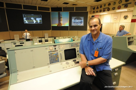 LOS ANGELES DODGERS VISIT JOHNSON SPACE CENTER