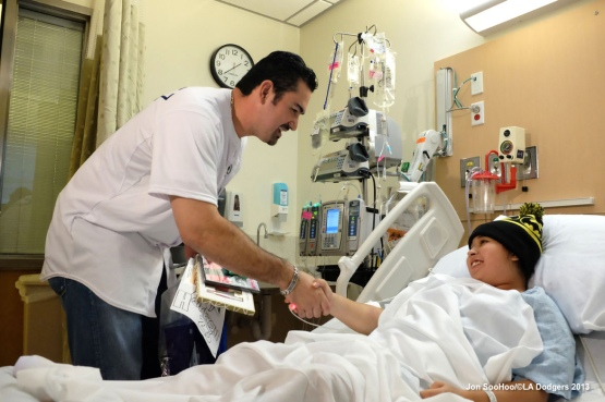 Adrian Gonzalez visits Childrens Hospital Los Angeles