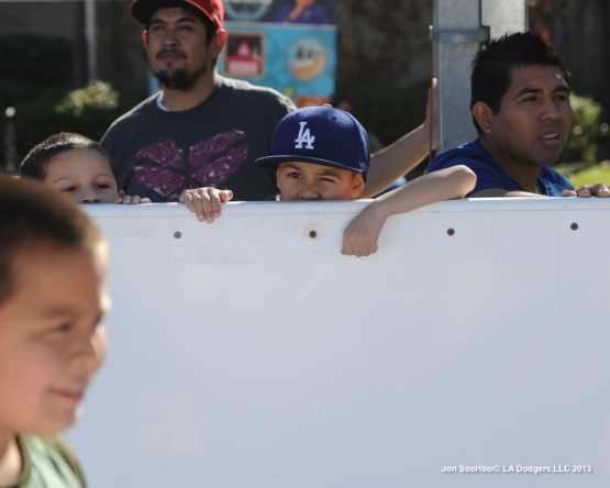 Dodgers Adrian Gonzalez particpates in East LA Toy Giveaway