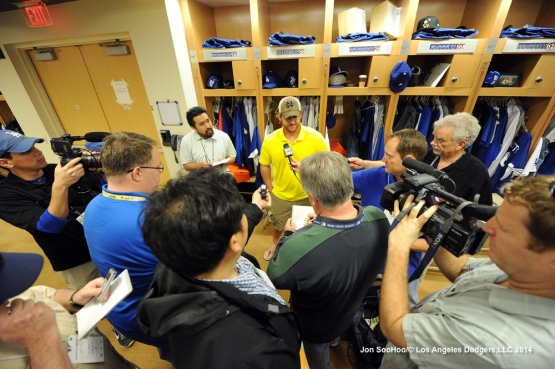 Los Angeles Dodgers reporting day for pitchers and catchers at Camelback Ranch-Glendale