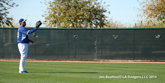 Los Angeles Dodgers first workout for pitchers and catchers at Camelback Ranch-Glendale