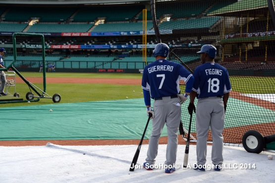 Los Angeles Dodgers workout at the Sydney Cricket Ground in Australia