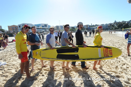 Los Angeles Dodgers at Bondi Beach