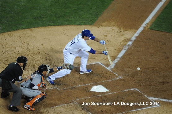 DETROIT TIGERS AT LOS ANGELES DODGERS