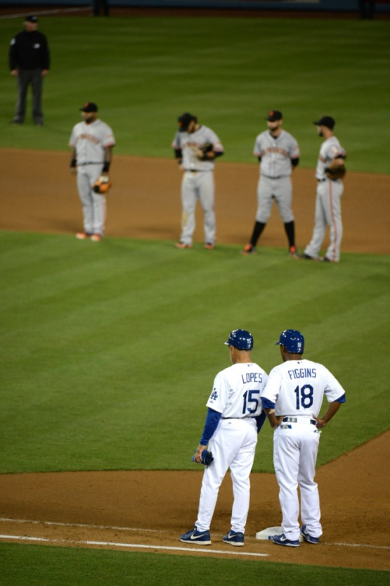 San Franicsco Giants at Los Angeles Dodgers