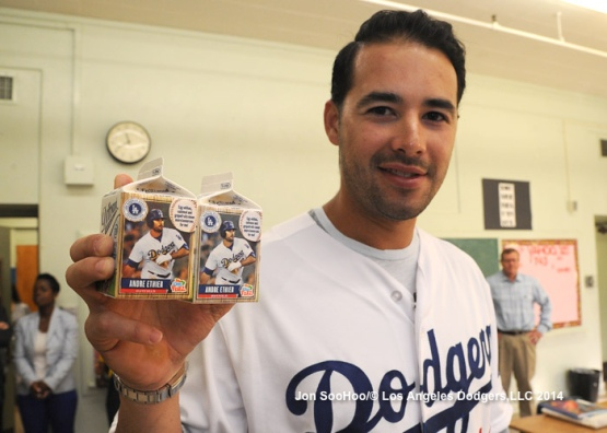 Andre Ethier visits Nightengale Middle School