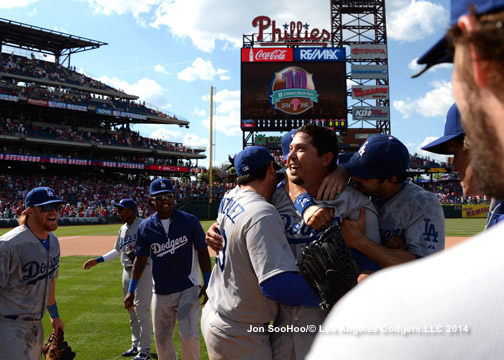 LOS ANGELES DODGERS JOSH BECKETT NO HITTER VS PHILADELPHIA PHILLIES