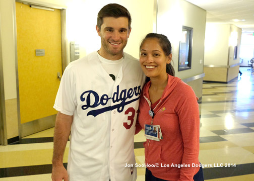 DODGERS VISIT CHILDRENS HOSPITAL LOS ANGELES