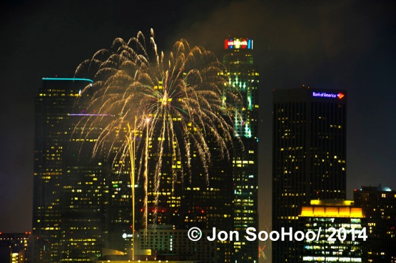 Fireworks over Los Angeles