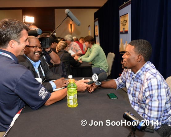 Los Angeles Dodger All Stars speak to the media