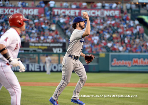 LOS ANGELES DODGERS AT LOS ANGELES ANGELS