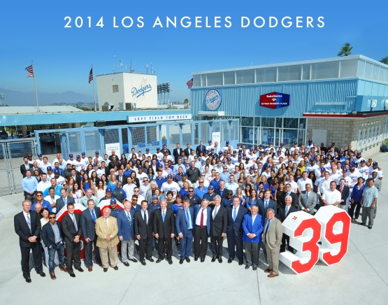 2014 Los Angeles Dodgers Team Photo