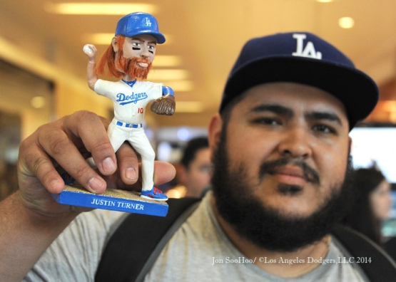 Los Angeles Dodger Justin Turner at the Westfield-Topanga