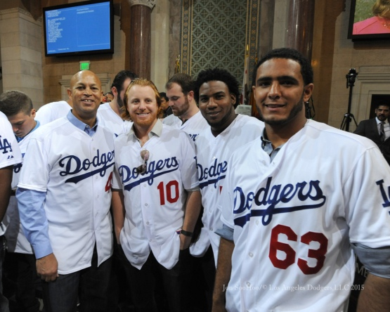 Los Angeles Dodgers Caravan at City Hall