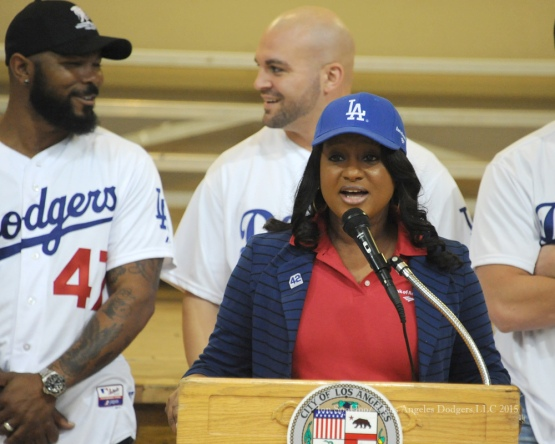Los Angeles Dodgers Caravan at Montecito Park