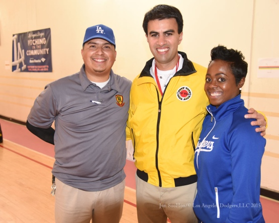 Los Angeles Dodgers Caravan at Hollenbeck Middle School