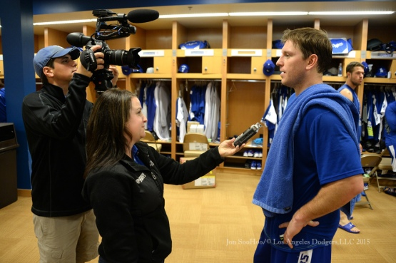 Los Angeles Dodgers on reporting day for pitchers and catchers