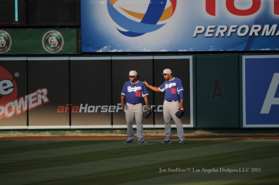 Los Angeles Dodgers at the Los Angeles Angels of Anaheim
