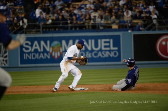 Los Angeles Dodgers vs Colorado Rockies Friday, May 15, 2015 at Dodger Stadium in Los Angeles,California.  Photo by Jon SooHoo/©Los Angeles Dodgers,LLC 2015