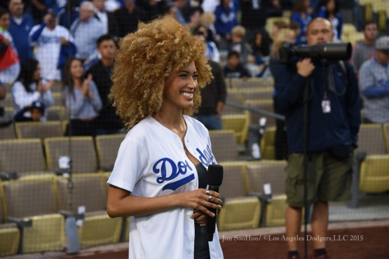 Los Angeles Dodgers vs San Diego Padres Friday, May 22,2015 at Dodger Stadium in Los Angeles,California. The Dodgers beat the Padres 2-1. Photo by Jon SooHoo/©Los Angeles Dodgers,LLC 2015