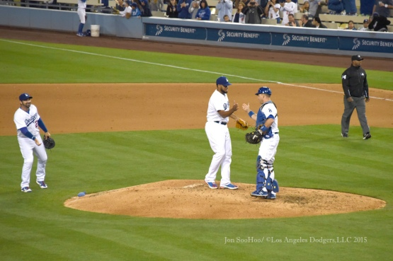 Los Angeles Dodgers vs San Diego Padres Saturday, May 23,2015 at Dodger Stadium in Los Angeles,California. Photo by Jon SooHoo/©Los Angeles Dodgers,LLC 2015