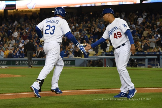 Los Angeles Dodgers vs Atlanta Braves Tuesday, May 26, 2015 at Dodger Stadium in Los Angeles,California. The Dodgers beat the Braves 8-0. Photo by Jon SooHoo/©Los Angeles Dodgers,LLC 2015