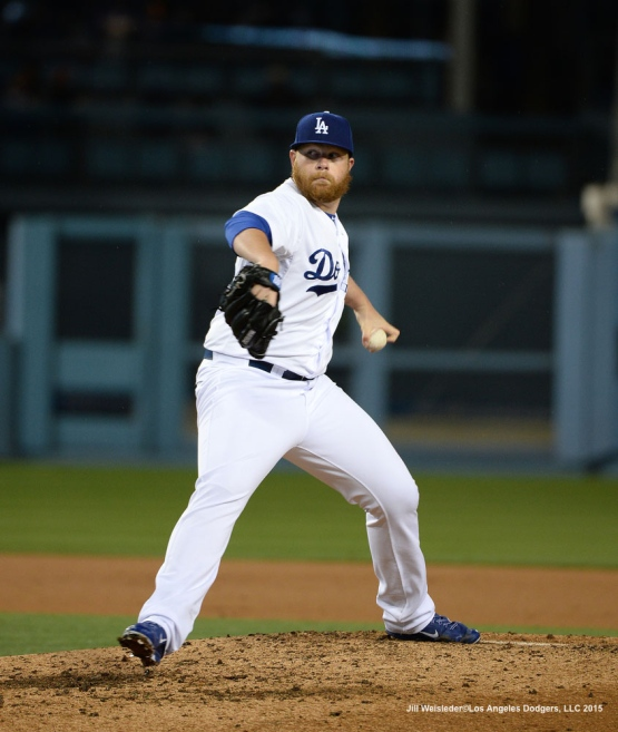 Brett Anderson throws on the mound. Jill Weisleder/LA Dodgers