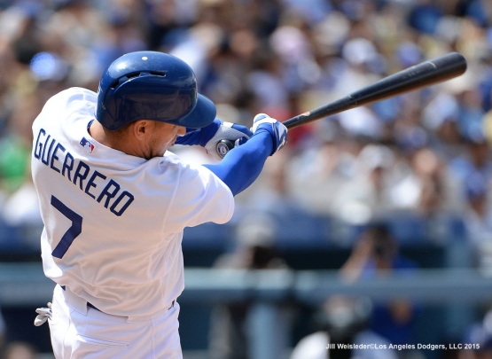 Alex Guerrero connects for a home run in the seventh inning. Jill Weisleder/Dodgers