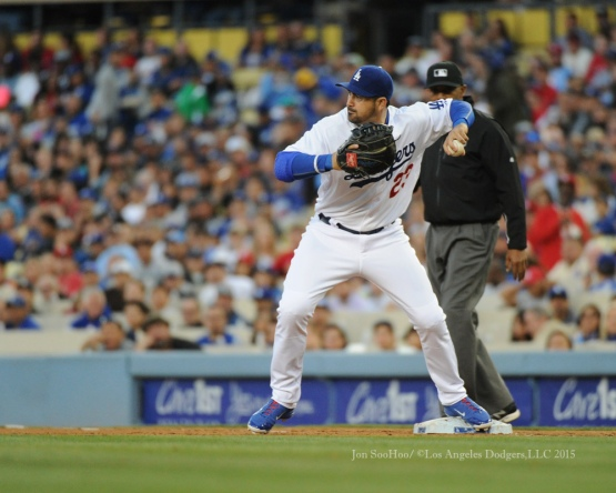 Los Angeles Dodgers during game against the St.Louis Cardinals Friday, June 5, 2015 at Dodger Stadium in Los Angeles,California. Photo by Jon SooHoo/©Los Angeles Dodgers,LLC 2015