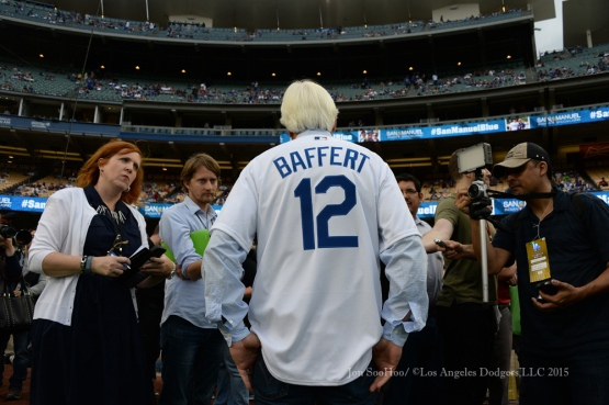 Los Angeles Dodgers during game against the Arizona Diamondbacks Tuesday, June 9, 2015 at Dodger Stadium in Los Angeles,California. The Dodgers beat the Diamondbacks 3-1.  Photo by Jon SooHoo/©Los Angeles Dodgers,LLC 2015