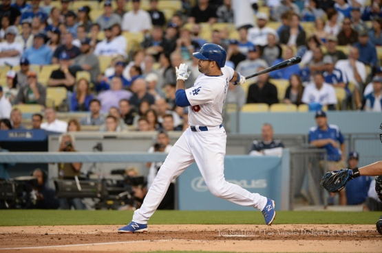 Los Angeles Dodgers during game against the Arizona Diamondbacks Wednesday, June 10, 2015 at Dodger Stadium in Los Angeles,California. The Dodgers beat the Diamondbacks 7-6.  Photo by Jon SooHoo/©Los Angeles Dodgers,LLC 2015