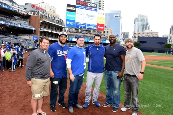 Los Angeles Dodgers during game against the San Diego Padres Friday, June 12,2015 at Petco Park in San Diego,California.The Dodgers beat the Padres 4-3.  Photo by Jon SooHoo/© Los Angeles Dodgers,LLC 2015